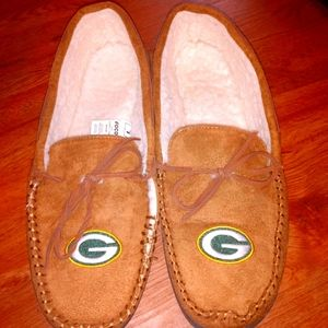 Green Bay Packers Moccasin Slippers New